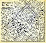 Los Angeles Downtown Map, Los Angeles County 1957 Street Atlas